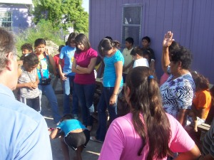 One resident led grace before the kids tore into the hot burgers from McDonalds.